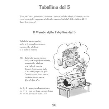 LE TABELLINE CANTERINE - libro + cd