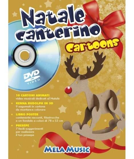 NATALE CANTERINO CARTOONS - libro poster + dvd