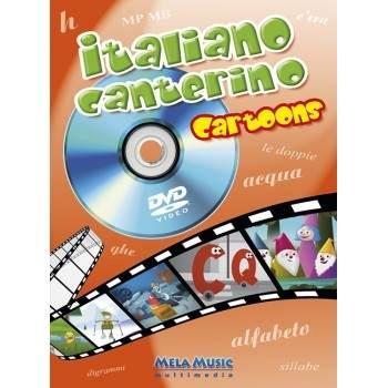ITALIANO CANTERINO CARTOONS - libro poster + dvd