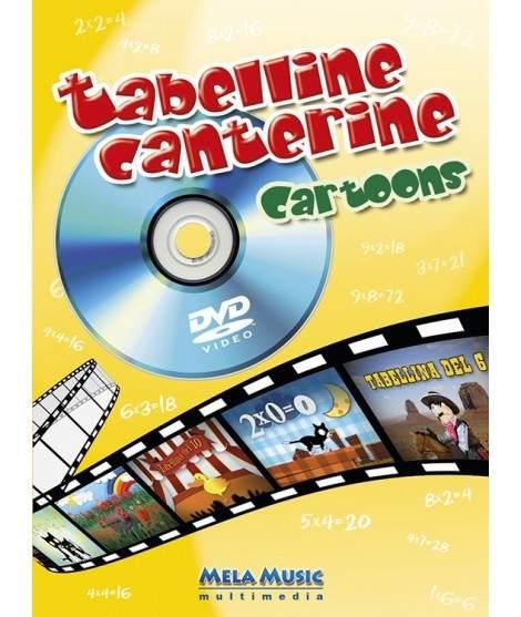 TABELLINE CANTERINE CARTOONS - libro poster + dvd